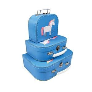 Sada 3 kufříků různých velikostí Rex London Magical Unicorn