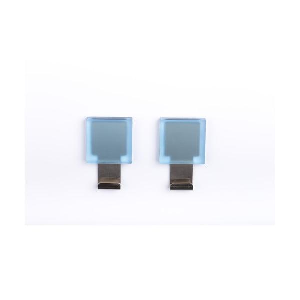 Sada 2 samodržících háčků Morbini Light Blue