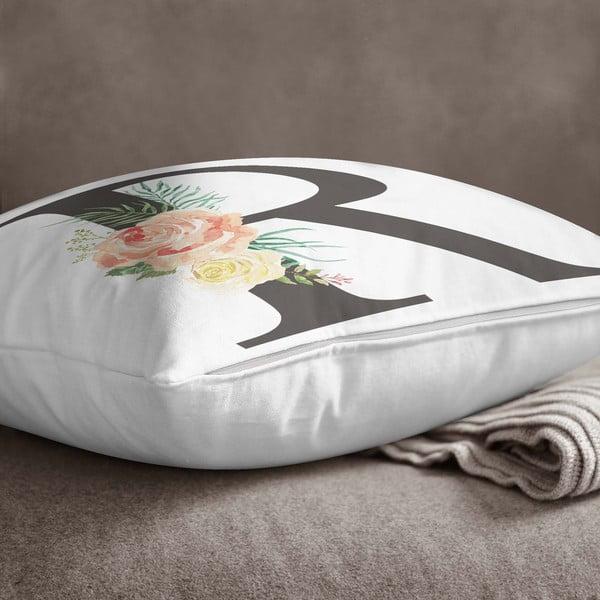 Față de pernă Minimalist Cushion Covers Floral Alphabet R, 45 x 45 cm