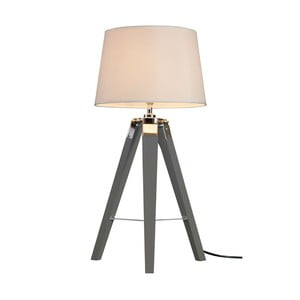 Šedá stolní lampa Premier Housewares Bailey