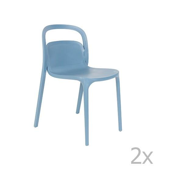 Set 2 scaune White Label Rex, albastru