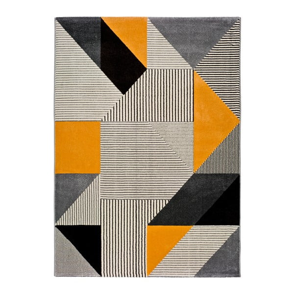 Covor Universal Gladys Durp, 120 x 60 cm, portocaliu-gri