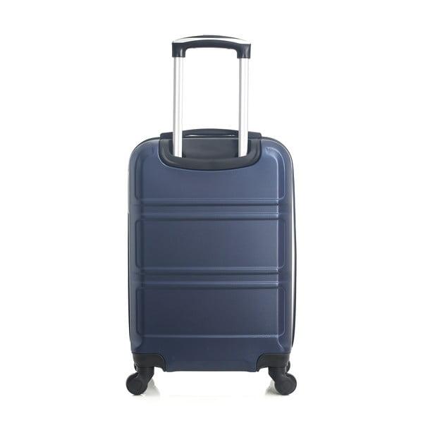 Modrý cestovní kufr na kolečkách Hero Utah, 37 l