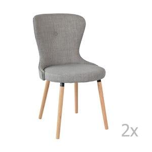 Sada 2 šedých židlí RGE