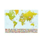 Osmidílná fototapeta World Map, 366 x 254 cm