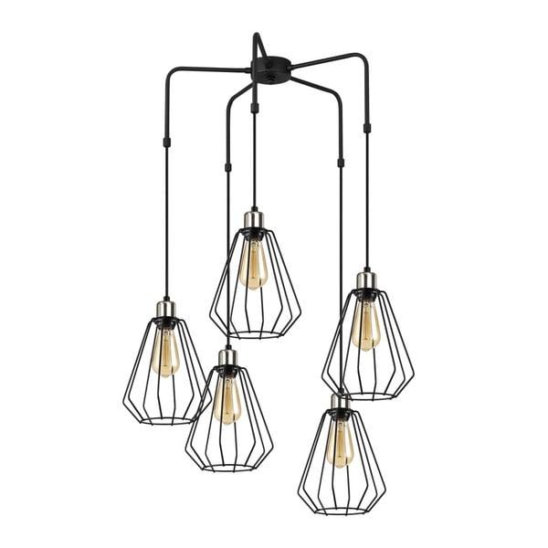 Czarna metalowa lampa wisząca Opviq lights Nestros