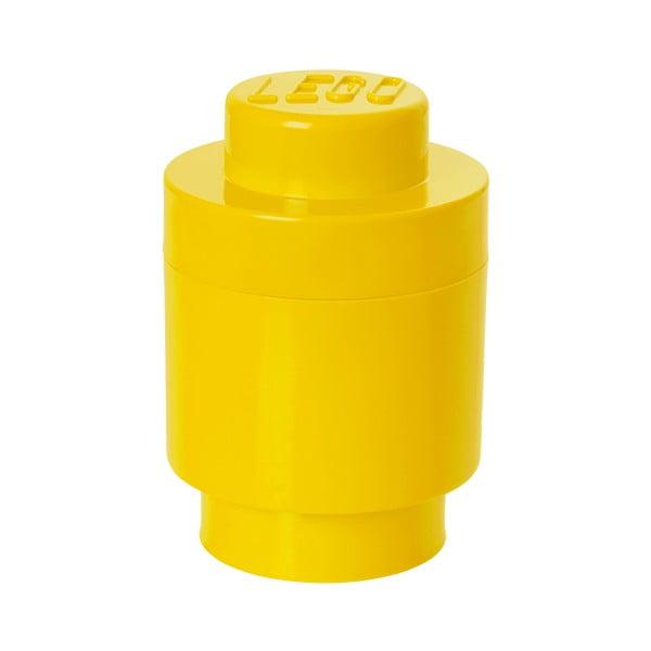 Żółty pojemnik okrągły LEGO®, ⌀ 12,5 cm