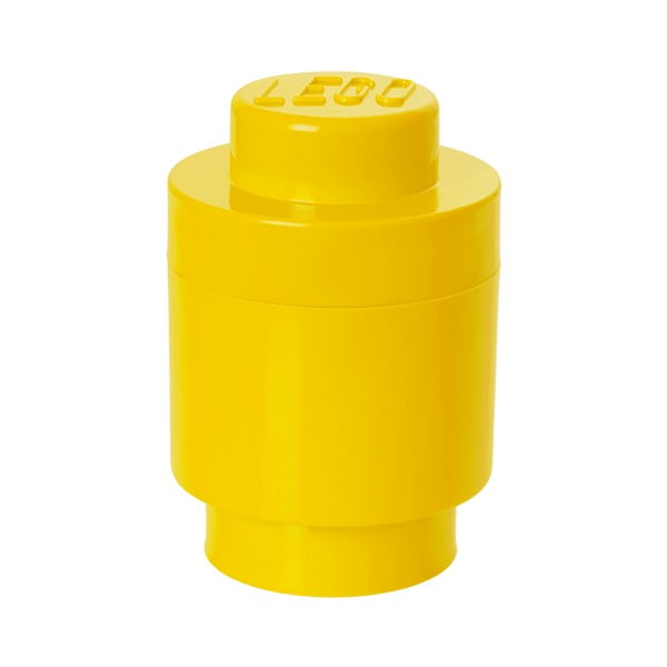 Cutie depozitare rotundă LEGO®, galben, ⌀ 12,5 cm