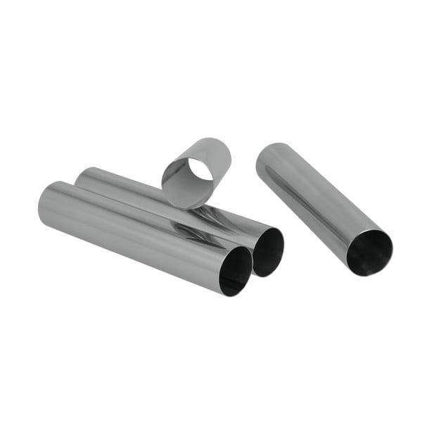 Sada 4 kovových ruliček na kremrole Metaltex, délka 12,5 cm
