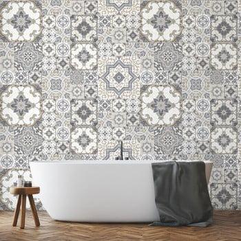 Set 60 autocolante de perete Ambiance Tiles Azulejos Taiga, 15 x 15 cm de la Ambiance