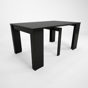 Černý dřevěný rozkládací jídelní stůl Artemob Grace