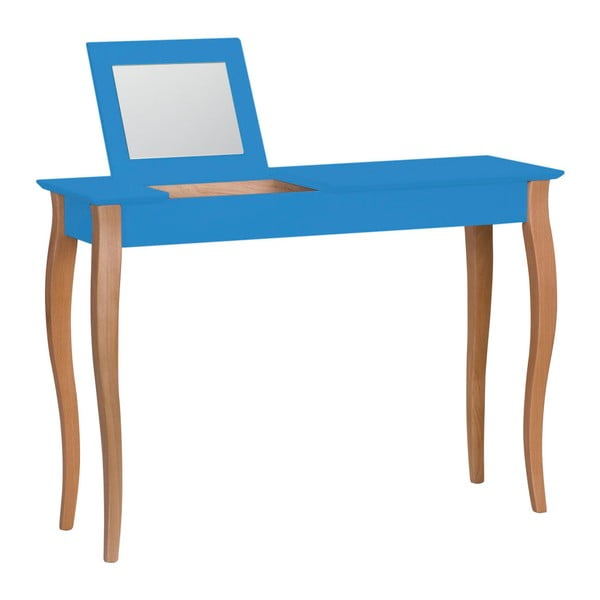 Lillo kék fésülködőasztal tükörrel, szélesség 105 cm - Ragaba