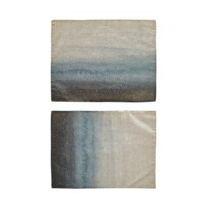 Set 2 suporturi pentru farfurii Villa Collection, 45 x 35 cm, albastru