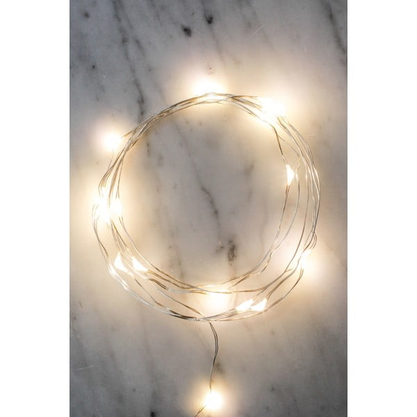 Silver LED fényfüzér, hosszúság 180 cm - Kikkerland