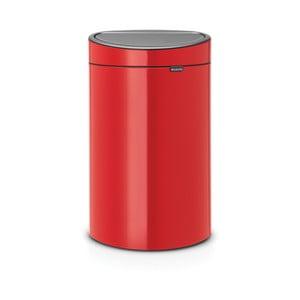 Červený odpadkový koš Brabantia Touch Bin, 40l