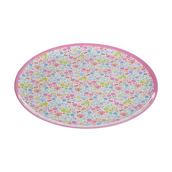 Barevný talíř s motivem květin Premier Housewares Casey, ⌀ 25 cm