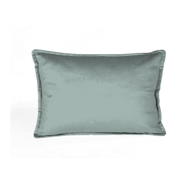 Niebieska dekoracyjna poszewka na poduszkę Velvet Atelier Terpas, 50x35 cm