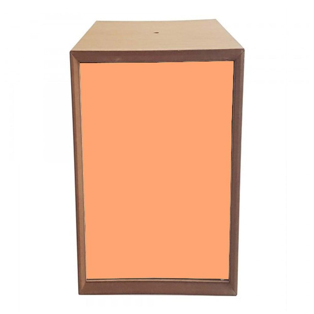 Policový díl s oranžovými dvířky Ragaba PIXEL, 40 x 80 cm