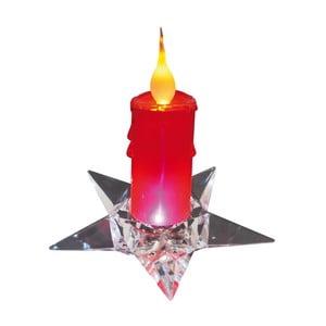 Červená dekorativní svíčka na podstavci Naeve, výška 16 cm