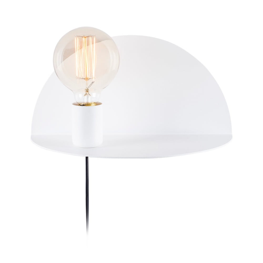 Bílá nástěnná lampa s poličkou Shelfie Anna