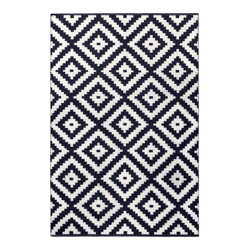 Tmavě modro-šedý oboustranný koberec vhodný i do exteriéru Green Decore Ava Malo, 90 x 150 cm