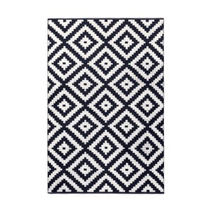 Tmavě modro-šedý oboustranný koberec vhodný i do exteriéru Green Decore Ava Malo, 140 x 200 cm