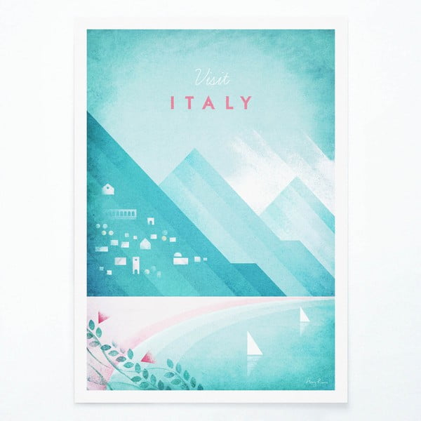 Italy poszter, A3 - Travelposter