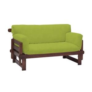 Canapea extensibilă cu 2 locuri 13Casa Karma, verde