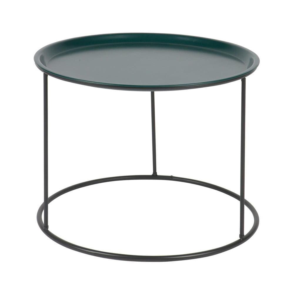Petrolejově zelený odkládací stolek De Eekhoorn Ivar, Ø 56 cm