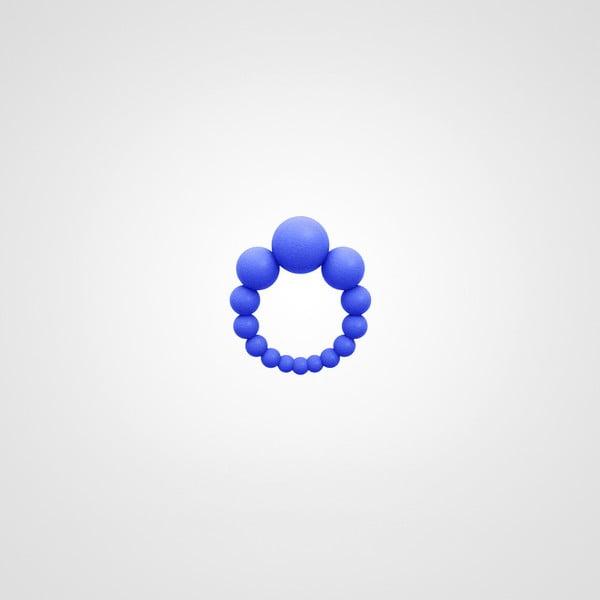 Prsten 3 Bubbles královská modrá