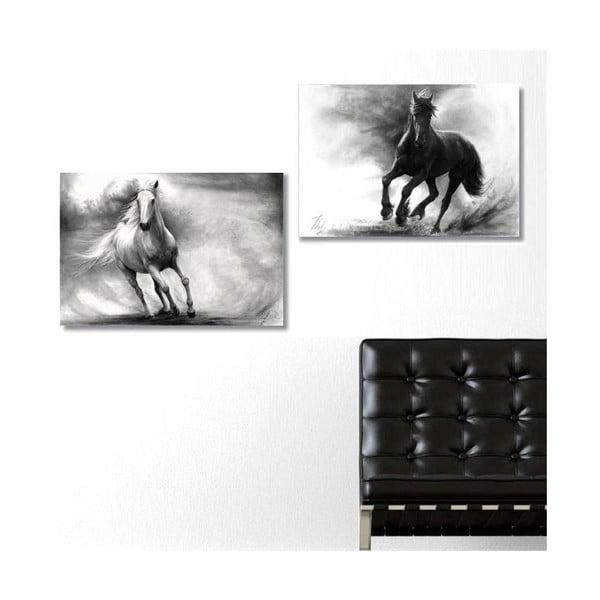 2dílný obraz Horses, 40x60 cm