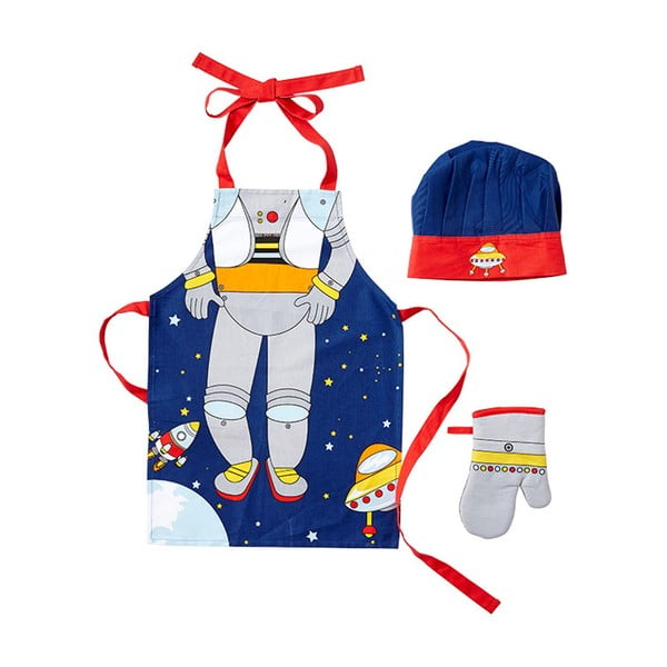 Spaceman kötény, sapka és edényfogó kesztyű készlet gyerekeknek - Ladelle