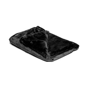 Černá mikroplyšová deka My House, 150x200cm
