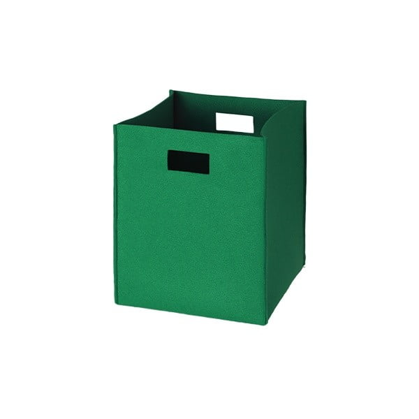 Plstěná krabice 36x30 cm, zelená