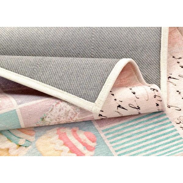 Vysoce odolný kuchyňský koberec Webtappeti Bluerose,60x140cm