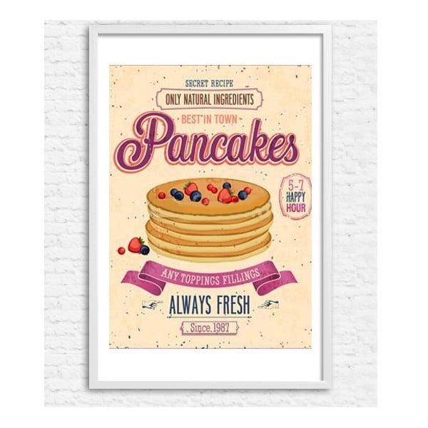 Zarámovaný plakát Pancakes, bílý rám