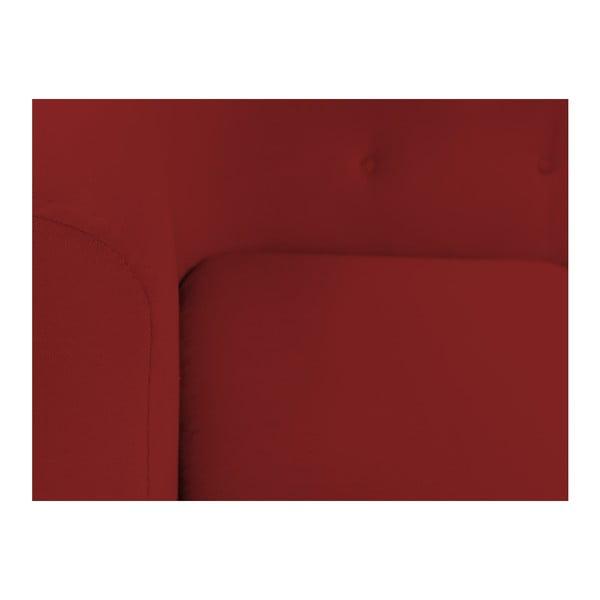 Červená třímístná pohovka Kooko Home Love