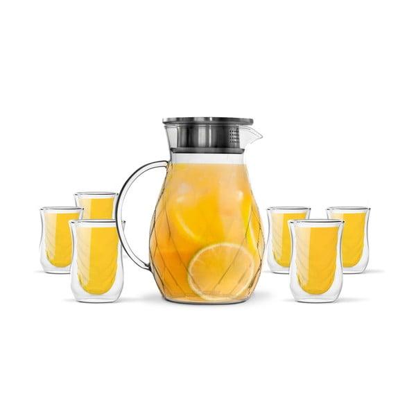 Sada 6 dvojitých sklenic a džbánu Vialli Design Peter