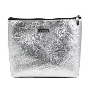 Kosmetická taštička ve stříbrné barvě Dara bags Baggie Big No.552