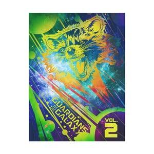 Obraz Pyramid International Guardians Of The Galaxy Vol 2 Rocket, 60 x 80 cm
