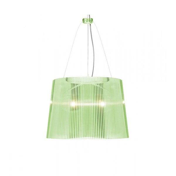 Stropní svítidlo Kartell GÉ Crystal, zelené