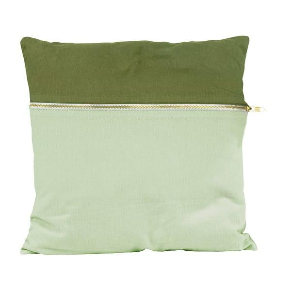 Polštář PT LIVING Duo Green, 45 x 45 cm