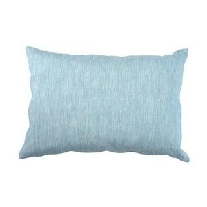 Modrý polštář Walra Karla, 40x60cm