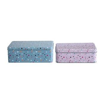 Set 2 cutii depozitare din tablă Premier Housewares Stellar, 13 x 20 cm