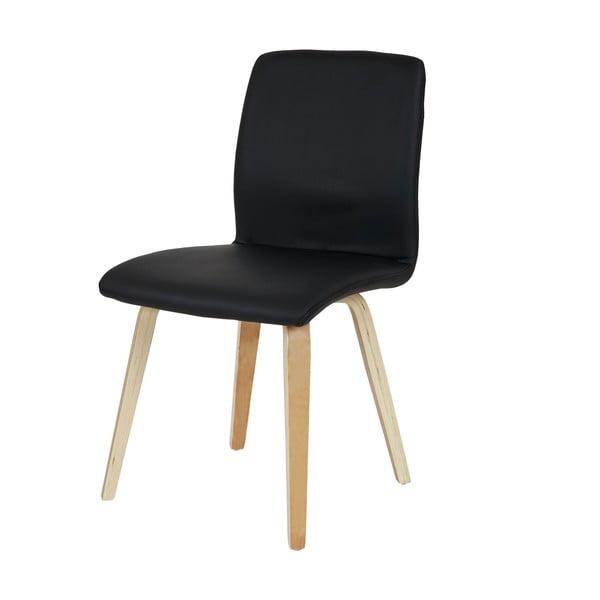 Sada 2 jídelních židlí Mendler Mountains Black Leather