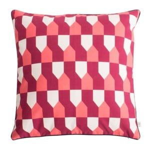 Červený polštář z čisté bavlny HARTÔ Octavius, 50 x 50 cm
