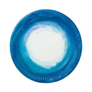 Set 12 farfurii de hârtie Blue Ombre