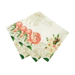 Sada 20 papírových ubrousků Flowers