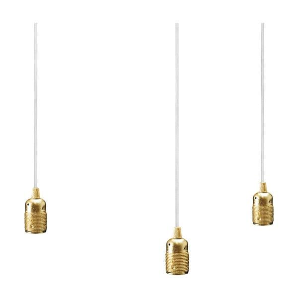 Trojice bílo-zlatých závěsných kabelů Bulb Attack Uno