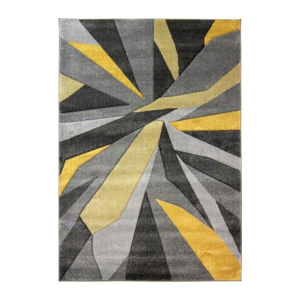 Žlutošedý koberec Flair Rugs Shatter Ochre, 160x230cm